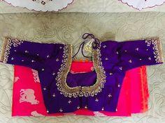 Wedding Saree Blouse Designs, Pattu Saree Blouse Designs, Blouse Designs Silk, Designer Blouse Patterns, Maggam Work Designs, Simple Blouse Designs, Work Blouse, Maggam Works, Sarees