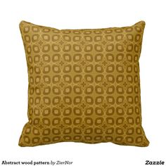 Abstract wood pattern pillows