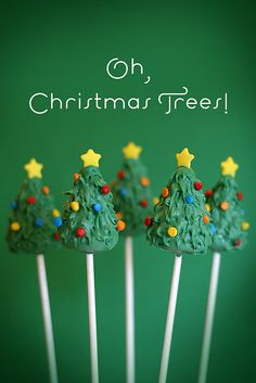 food -- christmas tree cake pops