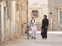 Wadjda - first feature length film made by a female Saudi director - a lovely story of a girl that wants to have her own bike to be as free as boys can be :) - Riyadh, Saudi Arabia