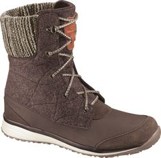 Check out the Salomon Womens Hime Mid Boot at Cotswold Outdoor. Stylish and warm, the Women's Hime Mid Boot combines natural motion with cozy warmth and soft textile components to keep. Salomon Winter Boots, Ski Boots, Combat Boots, Winter Gear, Buy Shoes, Suede Leather, Fashion Boots, Shoes Online, Casual Shoes