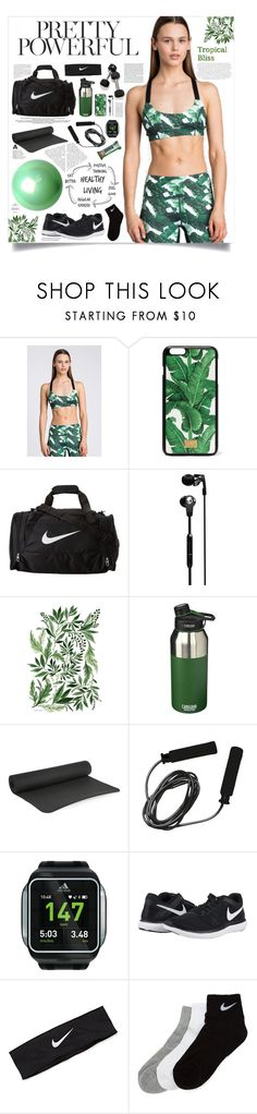 """Pretty Powerful"" by regkelly ❤ liked on Polyvore featuring Envi:, Dolce&Gabbana, NIKE, Skullcandy, CamelBak, Bodyism, adidas, GREEN, workout and tropicalprints"