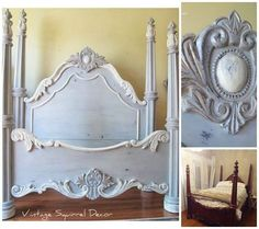 Paris Grey, Old White and French Linen Chalk Paint® decorative paint by Annie Sloan | By Vintage Squirrel Decor