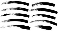 Free Paint Brush Strokes Vector