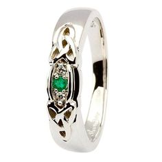 Love the emeralds but this may be a bit too much like my engagement ring