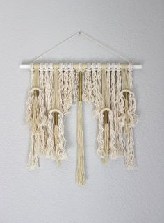 "Sale! Macrame Wall Hanging ""Orichalc no.3"" by HIMO ART, One of a kind Handcrafted Macrame/Rope art"
