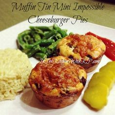 Muffin Tin Mini Impossible Cheeseburger Pies