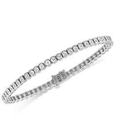 Image 2 of Diamond Illusion Tennis Bracelet ct. Silver Diamonds, Colored Diamonds, Round Diamonds, Modern Jewelry, Fine Jewelry, Jewelry Rings, Diamond Bracelets, Rose Cut Diamond, Bracelet Designs