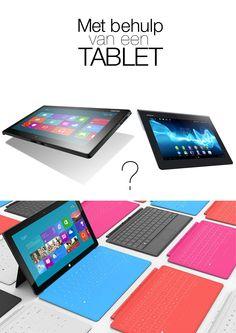 Met behulp van een tablet?    Wat is het creatieve idee?    We komen steeds dichterbij! :)