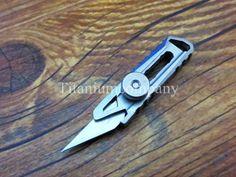 Titanium TC4 EDC Outdoor Mini One-piece Flick Cutter Knife / Paper cutter…