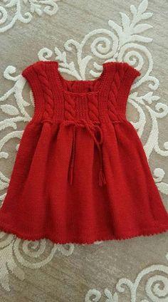 Super Crochet Patterns For Girls Dresses Sewing Tutorials Ideas Girls Knitted Dress, Girls Dresses Sewing, Knit Baby Dress, Knitted Baby Clothes, Little Girl Dresses, Baby Knits, Baby Dresses, Diy Crafts Dress, Diy Dress
