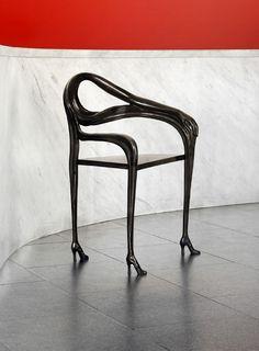 Black Label Leda chair-sculpture - Designed by Salvador Dalí