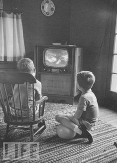 Black and white television...(I can still see the tv and the room we had) - got 2 channels in black and white if you were lucky with bunny ears :>)
