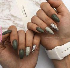 nail art designs for winter . nail art designs with glitter . nail art designs for spring . nail art designs with rhinestones Green Nail Designs, Cool Nail Designs, Acrylic Nail Designs, Classy Nails, Cute Nails, Trendy Nails, White Gel Nails, Lilac Nails, Feather Nails