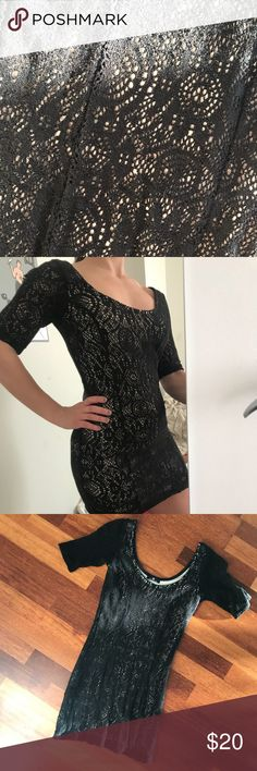 Scoop Neck Lace Design Bodycon Dress Worn only once Dresses
