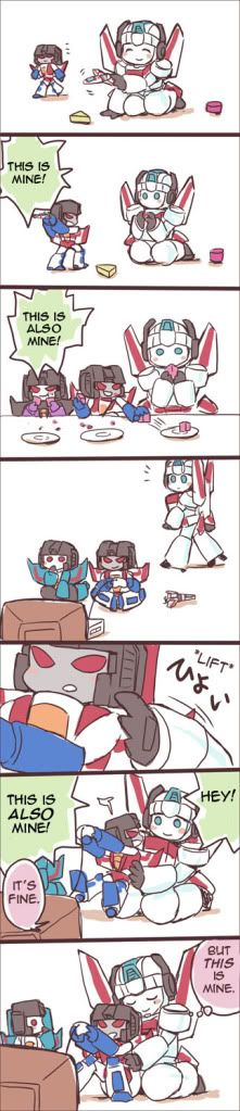 transformers starscream x skyfire// OMG, this is adorable! :)