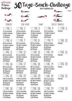 30-Tage-Bauch-Challegne
