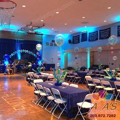 Under the Sea theme balloon decoration #PartyWithBalloons