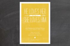 Quite Simply Wedding Invitations by robin ott desi... at Minted.com
