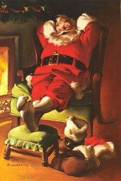 In 1930, famed Chicago commercial illustrator Haddon Sundblom painted a jolly, red-garbed Santa Claus for the Coca-Cola Company's 1931 advertising campaign. His depictions of the Coca-Cola Santa, formed America's perception of what Santa Claus looks like.http://i147.photobucket.com/albums/r293/VIEWLINER/VLTD%201012/XMAS10244.jpg