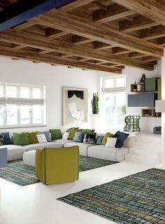 Design Case, Shabby Chic Homes, Apartment Interior, Scandinavian Interior, Valance Curtains, Beams, Tiny House, Decoration, Sweet Home