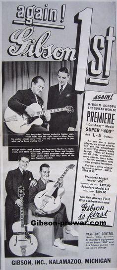 Gibson Pre-War Guitars, Kevin Mark Designs - '30's Gibson Ads