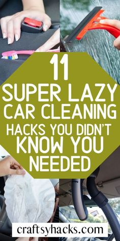 Car cleaning is an art in itself, because cars tend to get so messy. Try these little cleaning tips and tricks and enjoy your travels much more. Car Cleaning Hacks, Car Hacks, Cleaning Checklist, Cleaning Recipes, House Cleaning Tips, Diy Cleaning Products, Tips And Tricks, Clean Car Lights, Clean Your Car