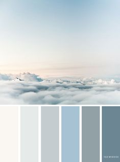 Wolken Pastell Wasserfarben bedrooms sky Color palettes inspired by sky Color Schemes Colour Palettes, Blue Colour Palette, Bedroom Color Schemes, Beach Color Palettes, Pastel Palette, Color Blue, Beach Color Schemes, Blue Grey, Palette Art