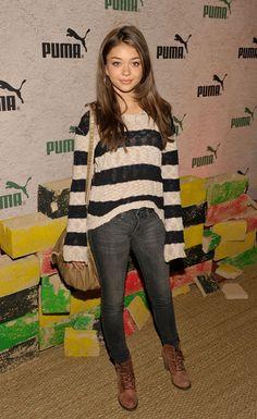 Sarah Hyland Crewneck Sweater - Sarah Hyland Looks - StyleBistro