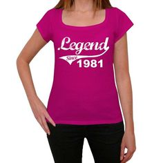 #birthday #celebration #gift #women #legend #pink Tshirt is the best birthday gift to give! Find it here --> https://www.teeshirtee.com/collections/collection-legend-since-pink/products/1981-womens-short-sleeve-rounded-neck-t-shirt-3