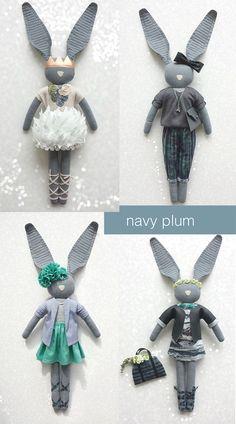 Navy Plum- Bunny //petitapetitandfamily.com