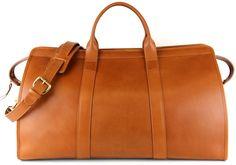 Private Jet Travel Duffle Bag | Handmade Leather Travel Luggage & Weekender Bags | Frank Clegg