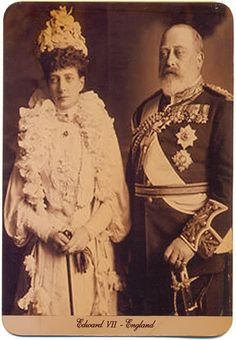 King Edward VII and Queen Alexandra of Denmark - parents of King George V