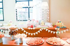 Pretty Peppa Pig birthday party! See more party planning ideas at CatchMyParty.com!