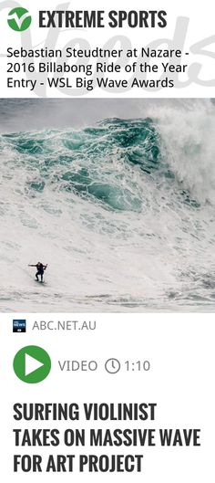 Surfing violinist takes on massive wave for art project | #violinist #surfingviolinist | http://veeds.com/i/ubmLGWyKXu7Qf_7e/extreme/