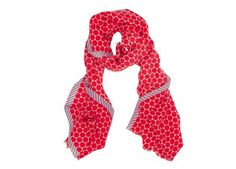 Wollen sjaal met grote rode stippen van Pip Studio :: Le Goût des Couleurs producten - Webshop