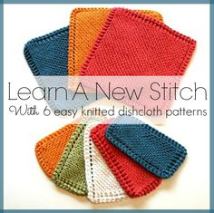 Learn a New Stitch With 6 Easy Knitted Dishcloth Patterns