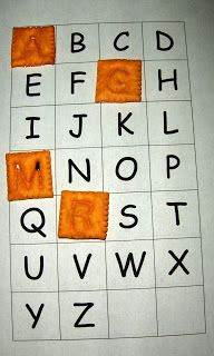 Free, Printable Cheese Its ABC Printable   - Capital and Lowercase versions