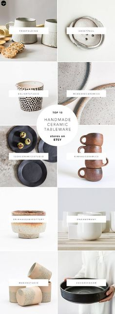 You probably know by now that Etsy is a great source of handmade ceramics yet it is a real pain to source down the pretty ones through the (literally) thousands of its listings.  Problem solved :) I created a list of 10 favorite stores with really cool ceramic products, from mugs and tumblers to plates and teapots, and I'm sharing it in today's blog post.