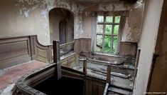 The 15 creepiest abandoned places in Britain you'd NEVER spend the night in – The Sun Abandoned Places In The Uk, Abandoned Hospital, East Sussex, Places Ive Been, Britain, Creepy, Stairs, Cottage, Night