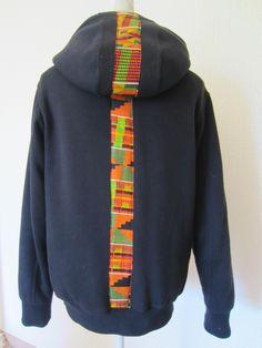 Customisation sweat à capuche CéWax sur le blog:https://cewax.wordpress.com/ Style ethnique tissus africains, Ankara, african men fashion prints pattern fabrics, wax, kente, kitenge, kanga, bogolan, pagne, mud cloth, woodin…