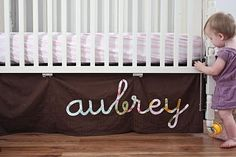 DIY crib skirt... I want to be the cool/crafty aunt that makes her niece/nephew's room AWESOME!