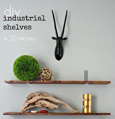 Highlighting the hardware for shelves
