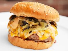 Quadruple chili cheese burger recipe.