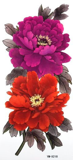 Amazon.com : YiMei Waterproof temporary tattoos peony wealth and good fortune woman : Body Paint Makeup : Health & Personal Care