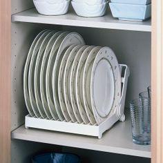 Quero um organizador de pratos desse.