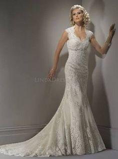 Vintage Ivory Lace Wedding Dress, Lace Wedding Dress With Keyhole Back