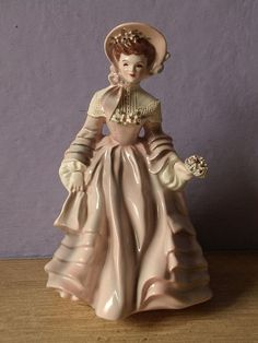 antique figurine Florence Ceramics Claudia 1950's by ShoponSherman,: