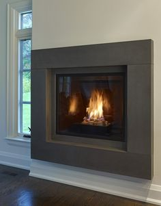 Modern Fireplace Surrounds | Moving To Modern U2013 The Evolution Of The Gas  Fireplace