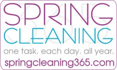 Cleaning Products - Spring Cleaning 365